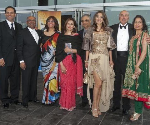 April 2013: David & Manjy Sidoo with friends at TOFIA (The Times Of India Film Awards).
